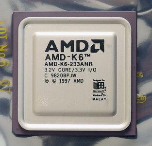 AMD K6-233ANR 233 MHz socket 7 processor - CPU 233MHz K6