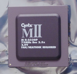 Cyrix MII-233GP 188 MHz 75 MHz bus (super) socket 7 processor - CPU 188MHz