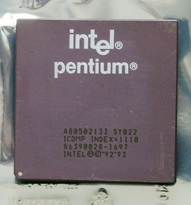 Intel Pentium A80502133 SY022 133 MHz socket 5 / 7 processor - 133MHz CPU vintage retro 90s