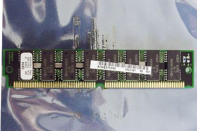 IBM P/N 74G1187 4 MB 4MB 70 ns 70ns 72-pin gold contacts SIMM parity FPM RAM memory module - vintage retro 90s