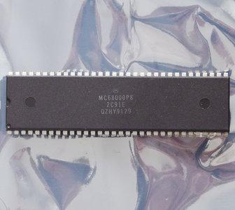 Motorola 68000 MC68000P8 8 MHz DIP64 processor - 8MHz CPU Apple Macintosh Amiga vintage retro 80s