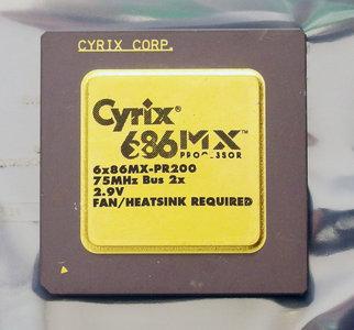 Cyrix 6x86MX PR200 150 MHz 75 MHz bus (super) socket 7 processor - CPU 150MHz