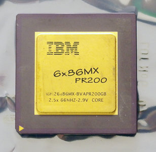 IBM 6x86MX PR200 BVAPR200GB 166 MHz socket 7 processor - CPU 166MHz IBM26x86MX-BVAPR200GB