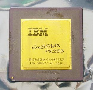 IBM 6x86MX PR233 CVAPR233GF 200 MHz socket 7 processor - CPU 200MHz IBM26x86MX-CVAPR233GF