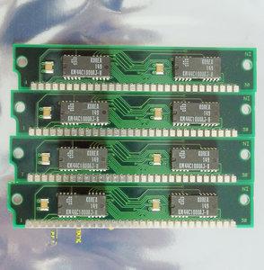 Set 4x Samsung KMM581000ANP-8 1 MB 1MB 4 MB 4MB kit 80 ns 80ns 30-pin SIMM non-parity RAM memory modules - vintage retro 80s