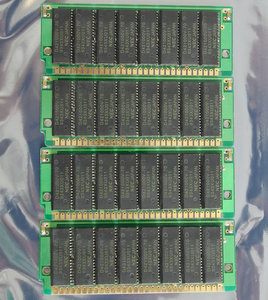 Set 4x NEC D421000V-70 1 MB 1MB 4 MB 4MB kit 70 ns 70ns 30-pin gold contacts SIMM non-parity RAM memory modules - vintage retro 90s