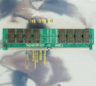 Texas Instruments TI TM248CBK32S-70 8 MB 8MB 70 ns 70ns 72-pin SIMM non-parity FPM RAM memory module - vintage retro 90s #2