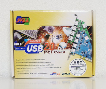New Syba NEC 5-port USB 2.0 PCI card adapter