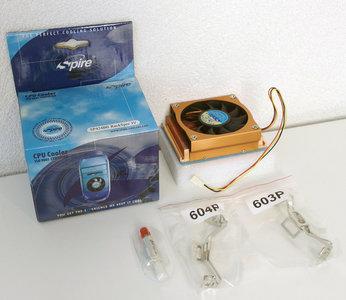 New Spire SP424B0 RackSper IV socket 603 / 604 copper processor cooler - CPU heatsink with fan Intel Xeon