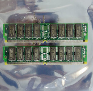 Set 2x IBM 75G8332 4 MB 4MB 8 MB 8MB kit 70 ns 70ns 72-pin SIMM non-parity FPM RAM memory modules - vintage retro 90s