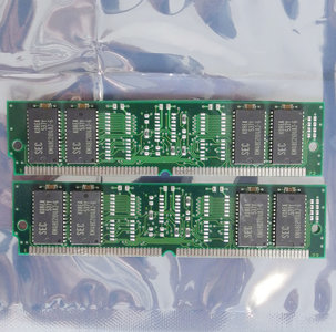 Set 2x SEC KMM5322104AU-6 8 MB 8MB 16 MB 16MB kit 60 ns 60ns 72-pin SIMM non-parity EDO RAM memory modules - vintage retro 90s #2