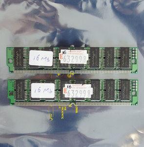 Set 2x Nanya NT511740C5J-60 16 MB 16MB 32 MB 32MB kit 60 ns 60ns 72-pin SIMM non-parity EDO RAM memory modules - vintage retro 90s