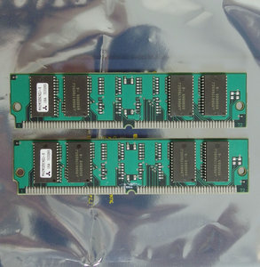 Set 2x IBM FRU 92G7321 / Mitsubishi MH2M325CNZJ-6 8 MB 8MB 16 MB 16MB kit 60 ns 60ns 72-pin SIMM non-parity EDO RAM memory modules - vintage retro 90s