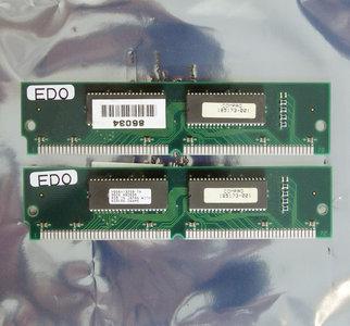 Set 2x Compaq 185173-001 4 MB 4MB 8 MB 8MB kit 70 ns 70ns 72-pin SIMM non-parity EDO RAM memory modules - vintage retro 90s