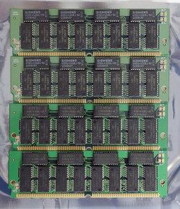 Set 4x Texas Instruments TI TMS417400ADJ-60 16 MB 16MB 64 MB 64MB kit 60 ns 60ns 72-pin gold contacts SIMM parity FPM RAM memory modules - vintage retro 90s