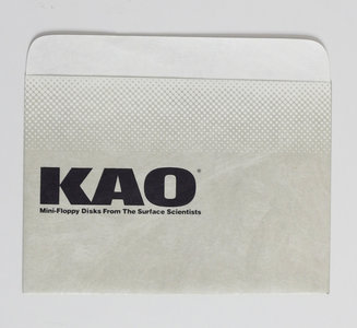 New loose KAO 5.25'' floppy disk sleeve dust cover protective envelope - vintage retro 80s