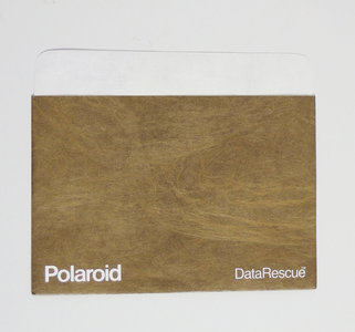 New loose Polaroid DataRescue 5.25'' floppy disk sleeve dust cover protective envelope - vintage retro 80s
