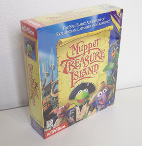 New & sealed Apple Macintosh CD-ROM game Muppet Treasure Island Activision - big box adventure vintage retro 90s Mac