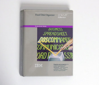 IBM Fixed Disk Organizer 5.25'' & 3.5'' floppy disk PC program complete - DOS vintage retro 80s