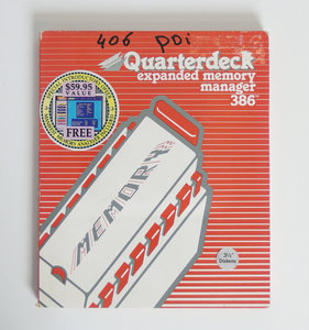 Quarterdeck QEMM-386 5.1 expanded memory manager 386 3.5'' disk PC memory manager program - DOS vintage retro 90s