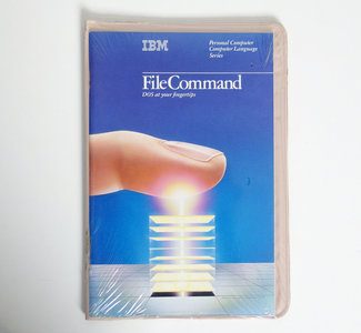 New & sealed IBM FileCommand 5.25'' floppy disk PC program complete - DOS vintage retro 80s