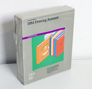 New & sealed IBM Drawing Assistant 5.25'' floppy disk PC program complete in box - DOS NOS vintage retro 80s