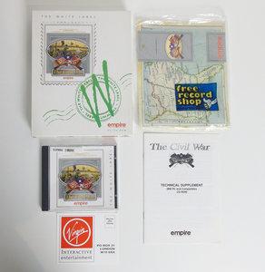 PC CD-ROM game The Civil War Empire complete - CIB big box strategy DOS 486 vintage retro 90s