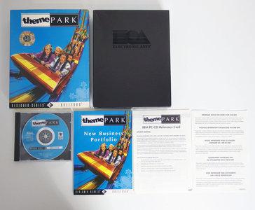 PC CD-ROM game Theme Park Bullfrog complete - CIB big box simulator DOS 486 vintage retro 90s