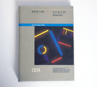 IBM DOS 3.30 Dutch 3.5'' & 5.25'' floppy disk PC operating system complete - vintage retro 80s