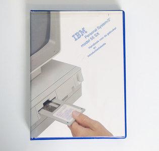 IBM Personal System/2 model 55 SX Handboek voor de gebruiker en Introductiediskette - PS/2 manual reference system disk vintage retro 90s