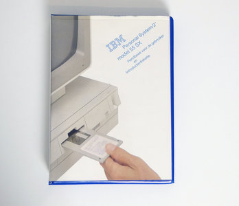 IBM Personal System/2 model 55 SX Handboek voor de gebruiker en Introductiediskette - PS/2 manual reference system disk vintage retro 90s #2