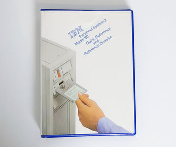 IBM Personal System/2 model 80 Quick Reference and Reference Diskette - PS/2 manual system disk vintage retro 80s