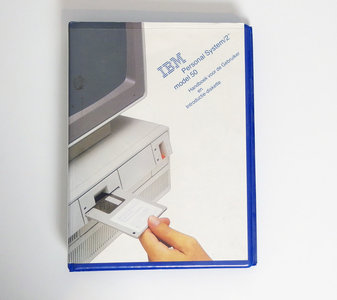 IBM Personal System/2 model 50 Handboek voor de gebruiker en Introductiediskette - PS/2 manual reference system disk vintage retro 80s #2
