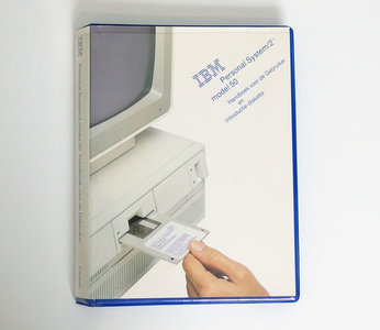 IBM Personal System/2 model 50 Handboek voor de gebruiker en Introductiediskette - PS/2 manual reference system disk vintage retro 80s #3