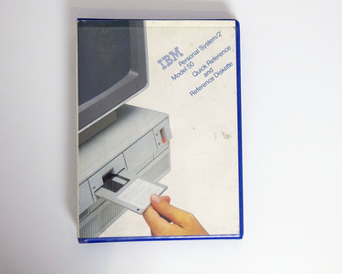 IBM Personal System/2 model 50 Quick Reference and Reference Diskette - PS/2 manual system disk vintage retro 80s