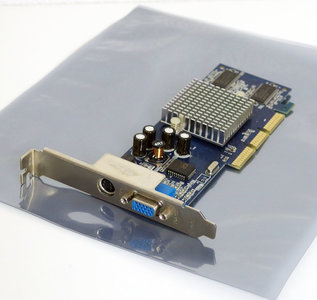 NVIDIA GeForce 4 MX440 64MB VGA TV-out graphics video AGP PC card adapter