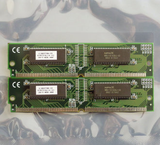 Set 2x Kingston KTM7318/16 K2 8MB 16MB kit 60ns 72-pin SIMM non-parity EDO RAM memory modules - vintage retro 90s
