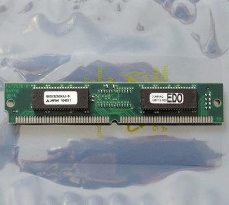COMPAQ 185172-002 / Mitsubishi MH2M325CNXJ-6 8MB 60ns 72-pin SIMM non-parity EDO RAM memory module - vintage retro 90s