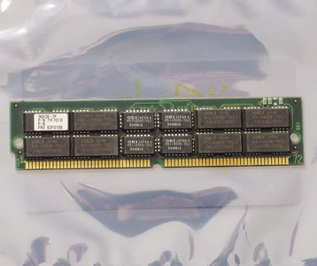 IBM FRU 92F0105 P/N 71F7010 4MB 70ns 72-pin gold contacts SIMM parity FPM RAM memory module - vintage retro 90s