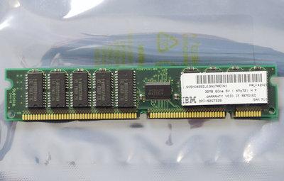 IBM FRU 42H2784 / SEC KMM372C412BK-6U 32MB 60ns 168-pin gold contacts DIMM parity FPM RAM memory module