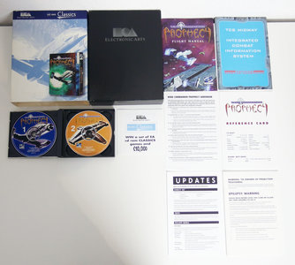 PC CD-ROM game Wing Commander Prophecy Electronic Arts complete - CIB big box space combat simulator Windows 95 98 9x Pentium MMX vintage retro 90s