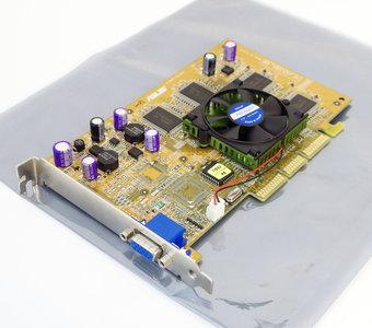 Asus V7700TI/D/64SG NVIDIA GeForce2 TI 64MB VGA graphics video AGP PC card adapter