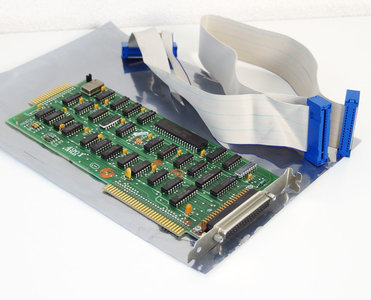 IBM 6181682 floppy disk drive FDD interface 8-bit ISA adaptor card controller w/ cable - 5150 5160 PC XT DOS vintage retro 80s