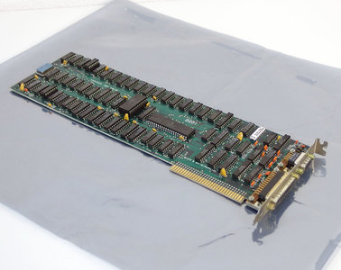 IBM 1501483 MDA black & white graphics video / parallel 8-bit ISA card adapter - 5150 5160 PC XT 8088 DOS vintage retro 80s
