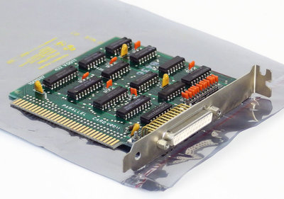 IBM 1501987 parallel LPT DB-25 connector 8-bit ISA card - interface PC XT 5150 5160 vintage retro 80s