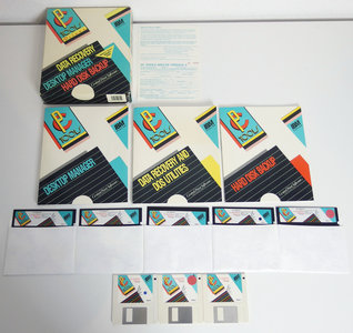 Central Point Software PC Tools Deluxe IBM version 5 5.25'' & 3.5'' floppy disk data recovery / desktop manager / hard disk backup program complete in box - CIB DOS vintage retro 80s