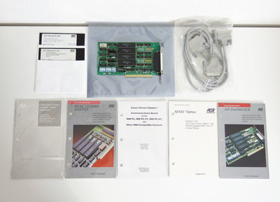 New AST Fourport serial RS-232 DB-25 connector 8-bit ISA card - async cluster adapter interface communications board PC XT AT vintage retro 80s