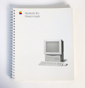 Apple Macintosh IIcx Owner's Guide English - manual vintage retro 80s