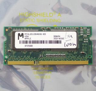Micron MT4LG51264KHG-83 4MB 100MHz 144-pin SO-DIMM SGRAM memory module - vintage retro 90s
