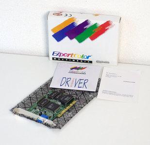 New ExpertColor CP765L S3 Trio64V+ 2MB VGA graphics video PCI PC card adapter - NOS NIB CIB 486 Pentium vintage retro 90s